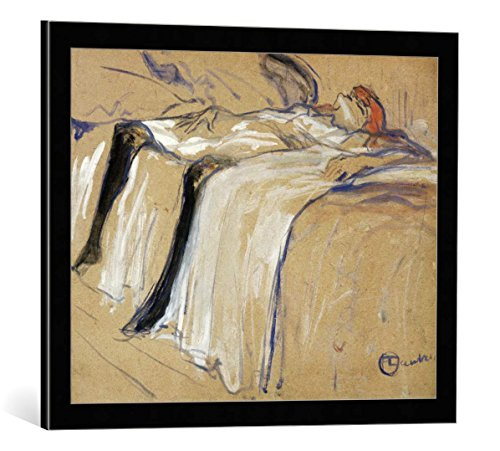 Framed Art Print: Henri de Toulouse-Lautrec Woman Lying on her Back - Lassitude Study for Elles 1896