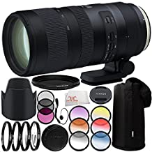 Tamron SP 70-200mm f/2.8 Di VC USD G2 Lens for Nikon F 11PC Accessory Bundle – Includes 3 Piece Filter Kit (UV + CPL + FLD) + 4PC Macro Filter Set (+1,+2,+4,+10) + MORE