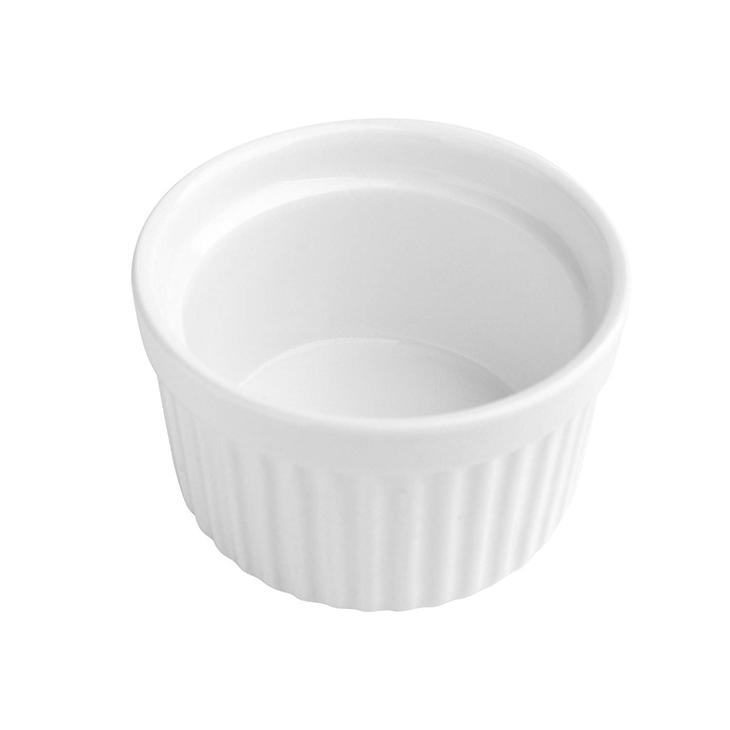 4 oz. Porcelain Ramekins, Porcelain Souffle Dishes, Ramekins for Souffle, Creme Brulee and Dipping Sauces - Set of 8, White by MAMA-AI (Image #5)