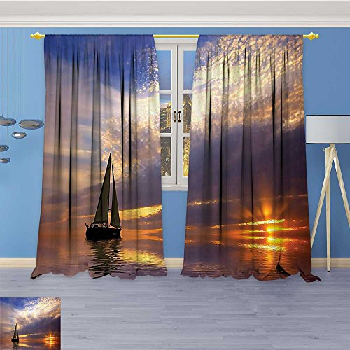 Vanfan Abstract Decor Curtains,With SunSunams Horiz Romance Heymo Destinati Bathroom,Living Room Bedroom Window Drapes 2 Panel Set, 96W x 72L Inch - Horiz Filter