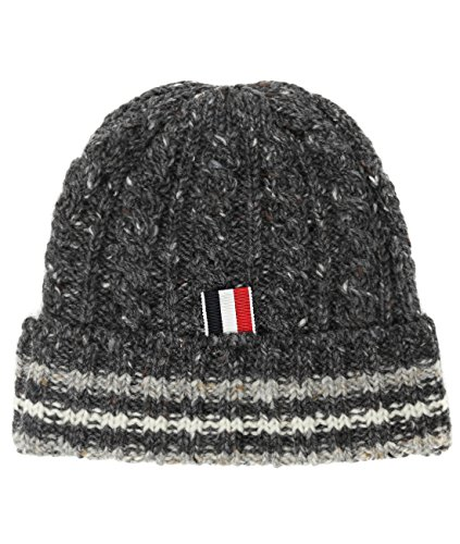 wiberlux-thom-browne-mens-flecked-cable-knit-beanie-one-size-gray