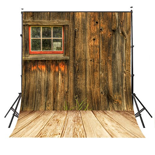 LYLYCTY 5x7ft Rustic Barn Door Wall Photography Background