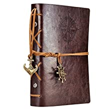 EvZ 7Inches x5Inches Vintage Retro Leather Cover Notebook Journal Blank String Nautical
