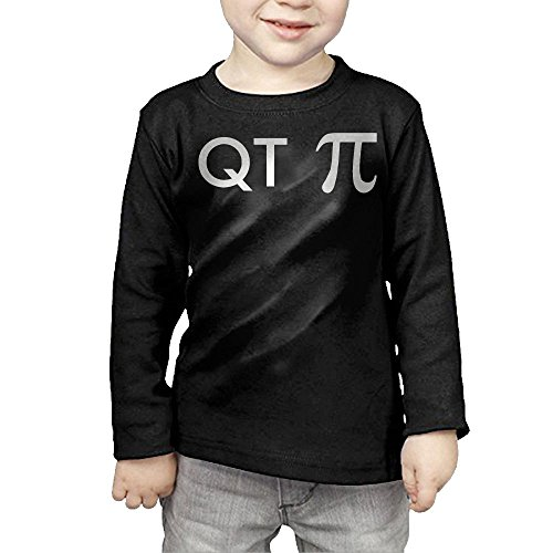 ZheuO Boys & Girls Infant QT PI Geeky Soft and Cozy 100% Cotton Tee Unisex Black 4 Toddler
