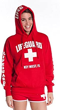 LIFEGUARD Official Ladies White Hoodie Key West FL XX-Large
