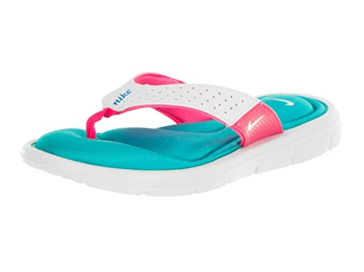 Nike Womens Comfort Thong Sandals, Wht/blue/pink 106 (6 B(