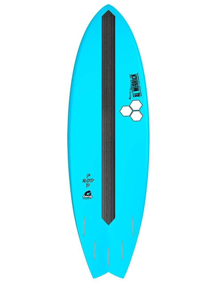 TORQ X-Lite Channel Islands Pod Mod - Tabla de surf (1,5 m, 6 fuentes), color azul y rosa: Amazon.es: Deportes y aire libre
