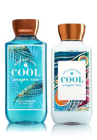 Bath & Body Works COOL AMAZON RAIN Gift Set -- Body Lotion (8 Oz) and Shower Gel (10 Oz)