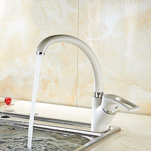 Kokeruup Dish Becken Wasserhahn Wasserhahn Becken Wasserhahn Bad weiß Lack Chrom Mischer backen