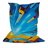 Branded Bean Bag with Printed Square Abstract (3' x 4.4')