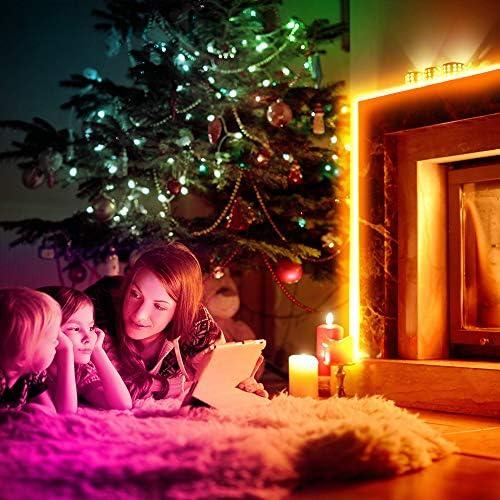 MINGER Led Strip Lights 32.8ft, for Home, Kitchen, Bedroom, Dorm Room, Remote Control, RGB