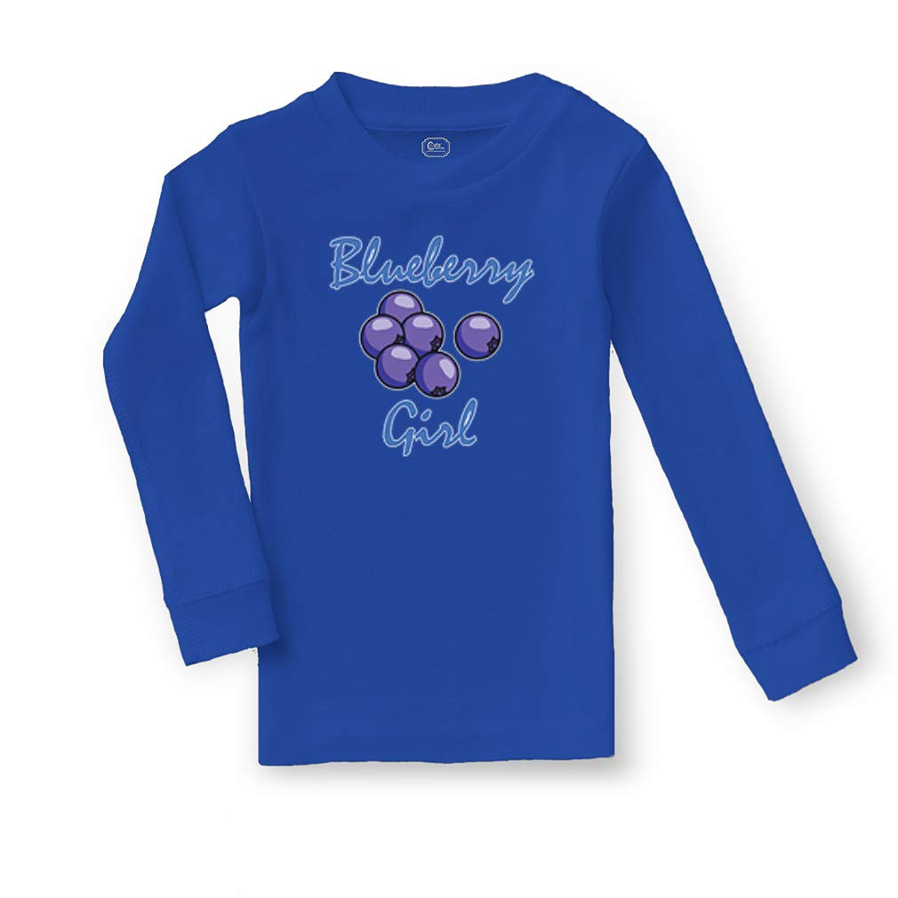 Blueberry Girl Cotton Crewneck Boys-Girls Infant Sleepwear Pajama 2 Pcs Set