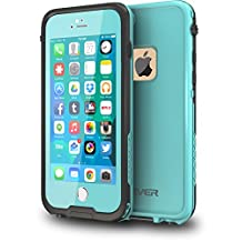 """CellEver iPhone 6 / 6s Case Waterproof Shockproof IP68 Certified SandProof SnowProof Full Body Protective Cover Fits Apple iPhone 6 and iPhone 6s (4.7"""") - Ocean Blue"""
