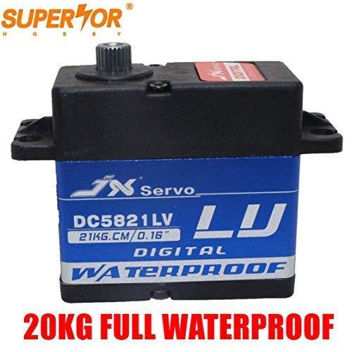 JX servo DC5821LV 20KG Full Waterproof Mental Gear for 1/8 1/10 Scaler Buggy Crawler TRX-4 SCX10 D90 RC car