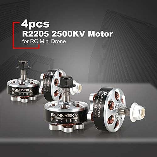 4pcs SUNNYSKY R2205 2205 CW/CCW 2500KV 3-4S Brushless Motor for RC Mini Drone by Wikiwand (Image #1)