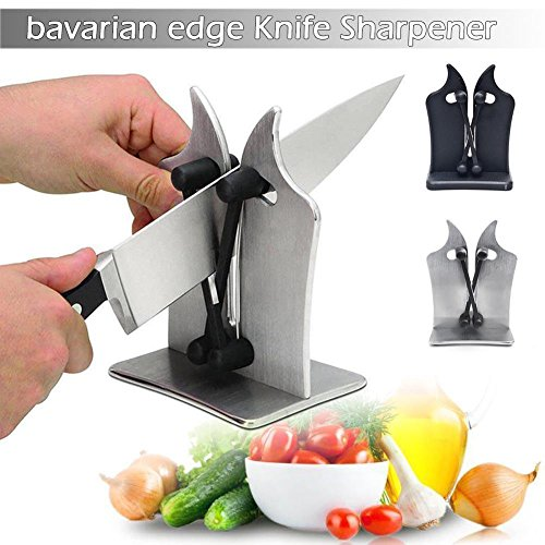 Ocamo Bavarian Edge Kitchen Knife Sharpener, Sharpens, Hones & Polish Black - Edge Magnetic Knife