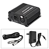 Aokeo 48V Phantom Power Supply with Adapter, XLR 3 Pin Microphone Cable for Any Condenser Microphone Music Recording Equipment