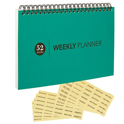 Weekly Calendar Pad : Blank weekly calendar planner for home office