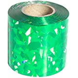 Green Holographic Streamer Roll, 2 inches wide x 100 feet long decorating supplies
