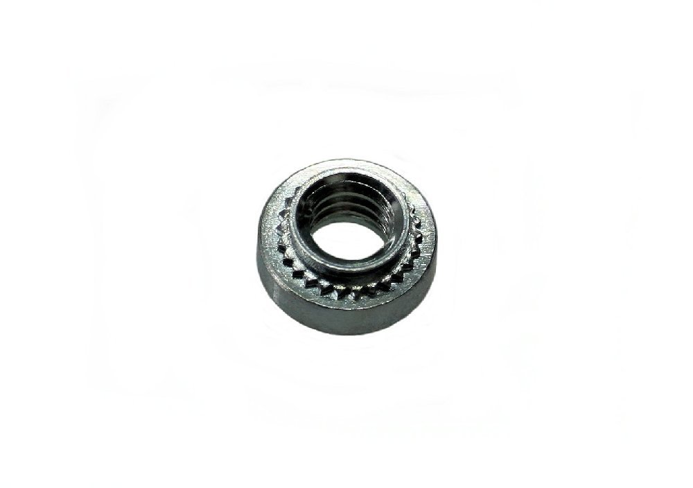 Unicorp ES-0420-3 Round Captive Nut Self-Clinching, 1/4-20 Thread x .125 thk, Steel Zinc QTY-50