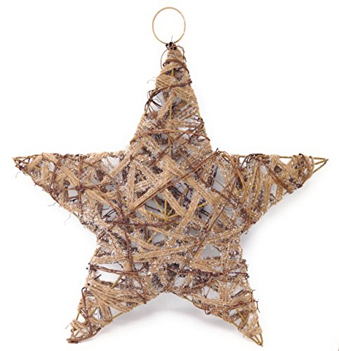 Pier 1 Rustic Burlap Jute Twine and Vine Star 20 Inch (Imports Pier 1)