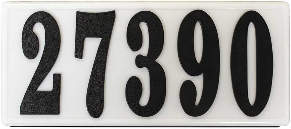 Qualarc SRP-AB01-BLK Serrano Low Voltage Plastic Rectangular Lighted Address Plaque with 4-Inch Black Polymer Numbers