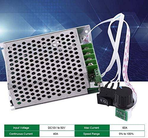 SSY-YU DC 10V-50V 40Aモータースピードコントローラー、スイッチと知事方向逆転スイッチ調節可能なモータドライバモジュールポテンショメータ 電動工具用
