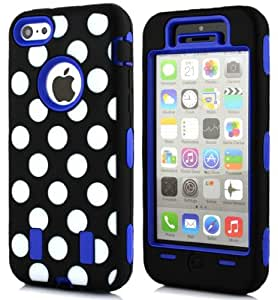 iPhone 5 Case, iPhone 5S Case,Kaseberry iPhone 5 Case,Hard Hybrid Pattern Case Cover Protector For iPhone 5 5S