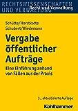 Vergabe Offentlicher Auftrage : Eine Einfuhrung Anhand Von Fallen Aus der Praxis, Horstkotte, Michael and Schubert, Mathias, 317023255X