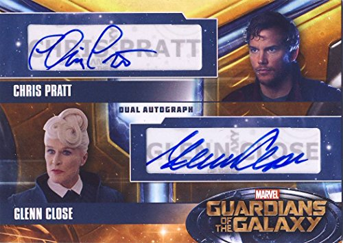 2014 Guardians of the Galaxy Trading Card Set Dual Autograph Glenn Close and Chris Pratt