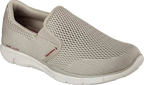 Skechers Mens Mens Equalizzatore Double Play Slip-on Mocassino Taupe