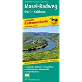 Radwanderkarte Mosel-Radweg, Perl - Koblenz (Livre en allemand)