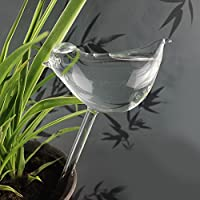 Leoie Self Watering Globe Plant Water Bulbs Bird Shape Dispositivo de riego de Vidrio Transparente