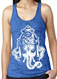 Ladies BIG GANESHA Burnout Racerback Tank, 2XL Royal For Sale