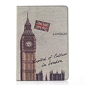 TOPQQ Clock Tower Pattern PU Leather and Hard Back Cover Pouch for Samsung Note Pro 12.2 P900