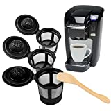 #3: (4 Pack) Reusable K Cup Coffee Filters - Single Cup Keurig Solo Filter Pod Coffee Stainless Mesh by SwayInc