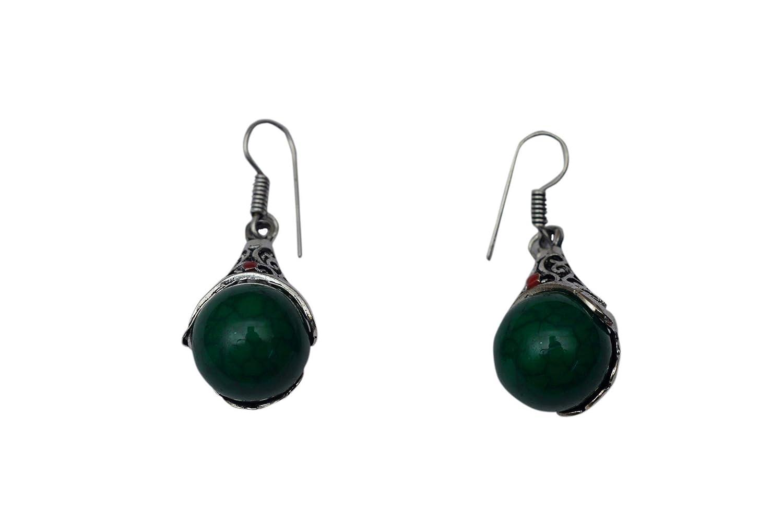 JD/&JD Fashion Jewelry Handmade Ethnic Black Onyx Oxidized Hook Earring Jewelry 1.5