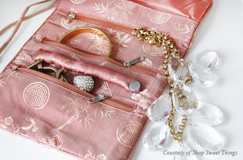 Jewelry Roll (Large) - Silk Jacquard