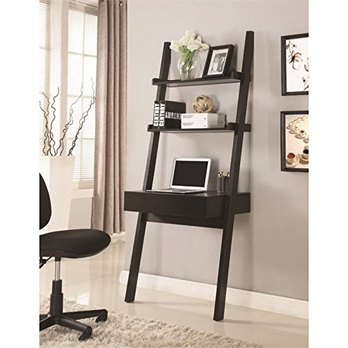 Desk Bookcase Ladder (Coaster Furniture 801373 Cappuccino Ladder Desk)