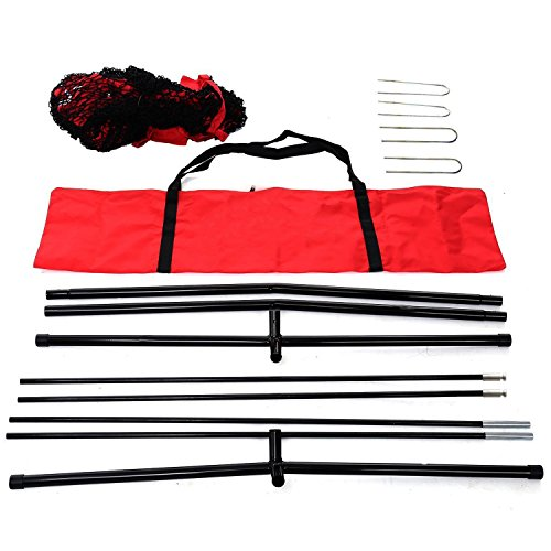 Super Deal 7'×7' Portable Baseball Softball Net w/Carrying Bag, Metal Bow Frame& Rubber Feet, for Training Hitting Batting Catching Practice by Super Dea (Image #8)