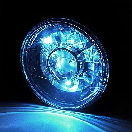 Combo: 2X 7 Inch Round - Spec-D Tuning LHP-7RNDJM-BL-RSX2 Blue Projector Headlight