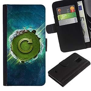 JackGot ( Natura Bella Forrest Verde 29 ) Samsung Galaxy S5 Mini (Not S5), SM-G800 la tarjeta de Crédito Slots PU Funda de cuero Monedero caso cubierta de piel