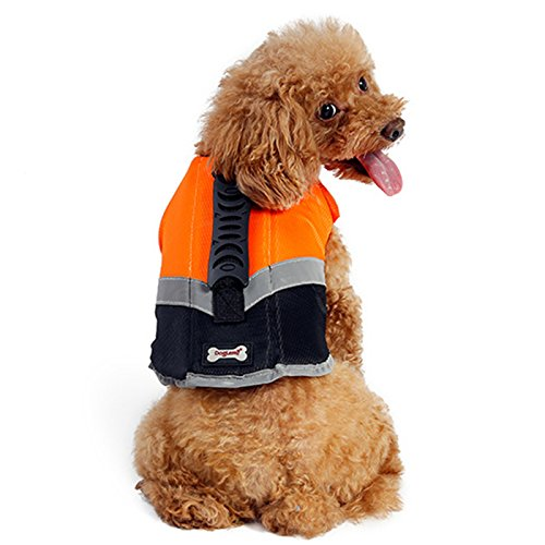 Alfie Pet - Lumen Pet Life Jacket - Color: Orange, Size: Small