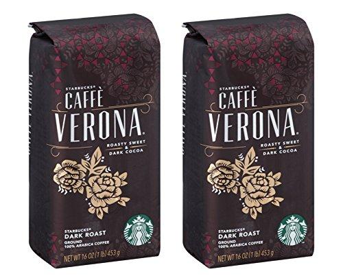 Starbucks Caffe Verona Coffee, Dark, Whole Bean - 32 Ounce (2 Lbs) ()