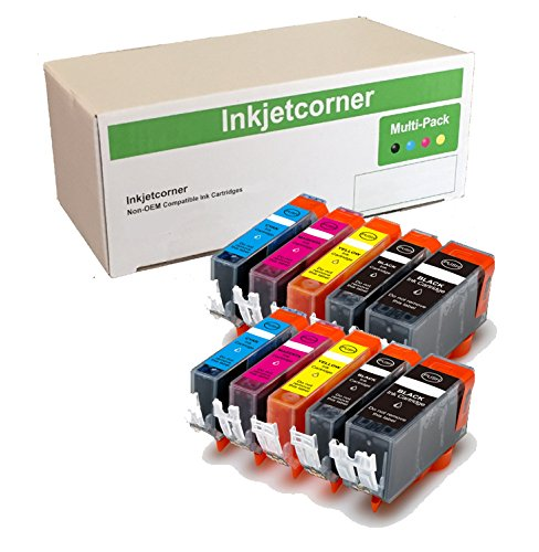 Inkjetcorner Compatible Ink Cartridges Replacement for PGI-220 CLI-221 for use with iP3600 iP4600 MP560 MP640 MX860 MX870 (10 Pack)