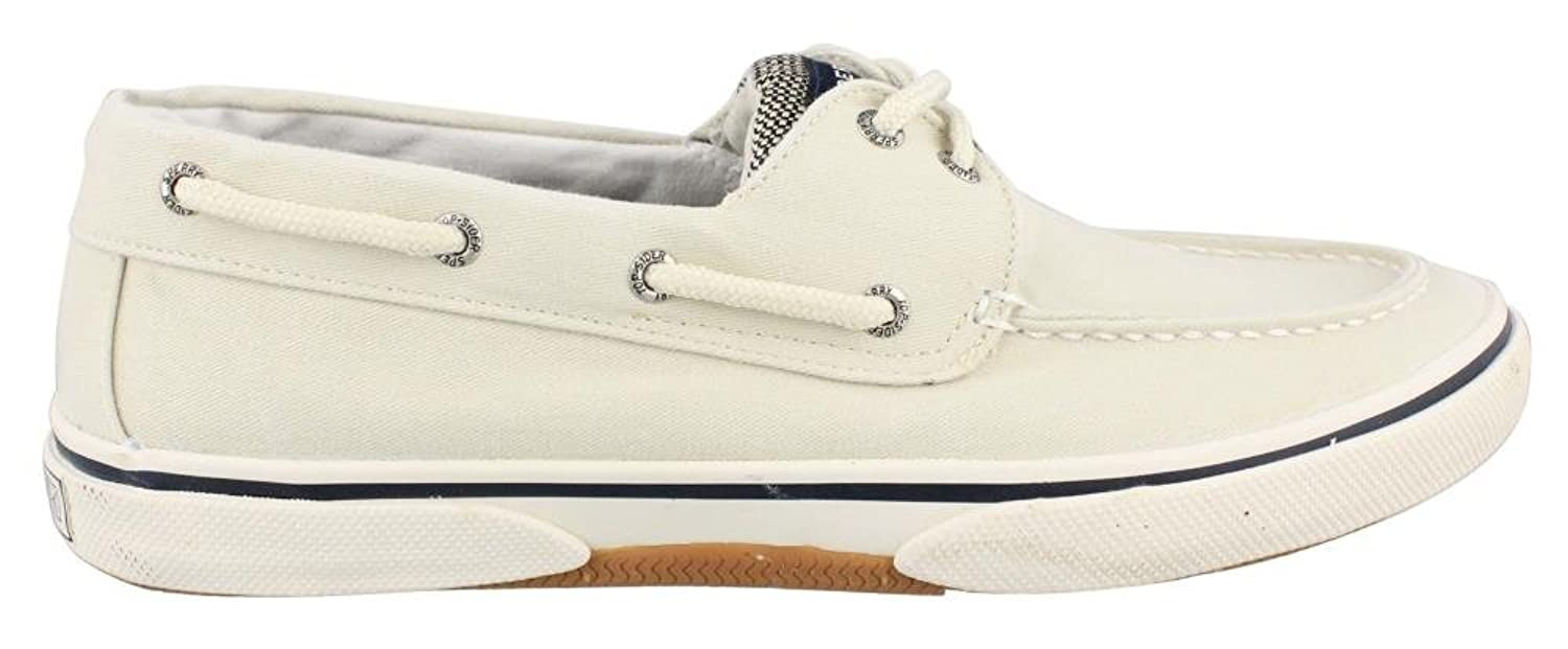 Men's Sperry, Halyard Lace up Boat Shoe CREAM 11 W