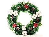 Yunqir Cotton Christmas Wreath Door Hanging Ornaments Room Christmas Tree Pendants for Decoration