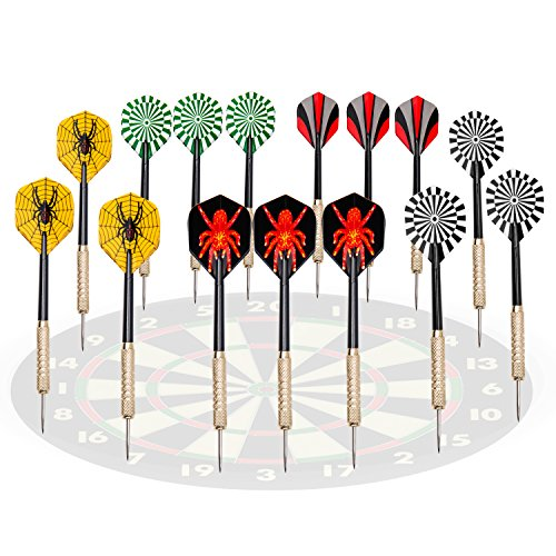 Best Price! UZOPI 15 Packs Tip Darts Set 18 Grams with Dart Sharpener and 4 Extra PVC Rods, Stainles...