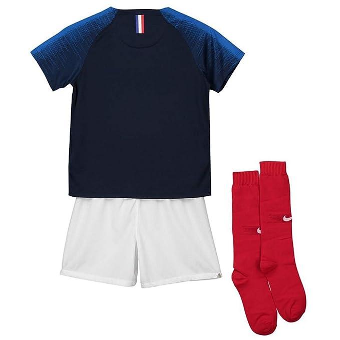 ZWXYA FFF Campeón del Equipo Francés Camiseta 2018 Copa del Mundo Dos Estrellas con Pantalones Cortos: Amazon.es: Deportes y aire libre
