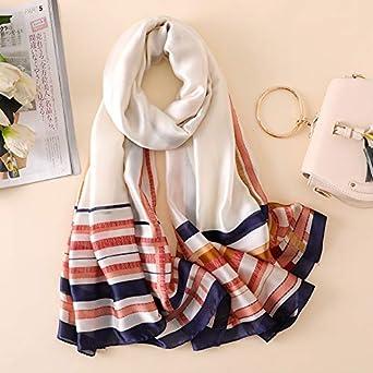 Hitsan Incorporation Silk Scarf Women Simple Fashion Geometric